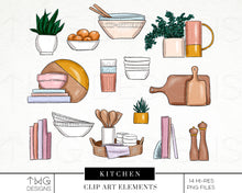 Load image into Gallery viewer, Themed Elements, Kitchen Clip Art Elements - TWG Designs