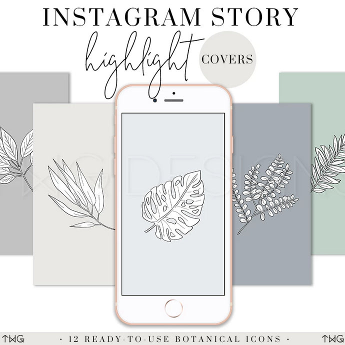 IG Story Highlight Covers, Botanical Instagram Story Highlight Covers - TWG Designs