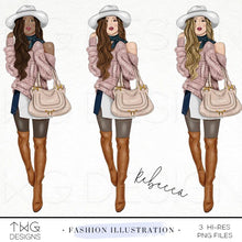 Load image into Gallery viewer, Fashion Illustrations, Rebecca - Fashion Illustration - TWG Designs