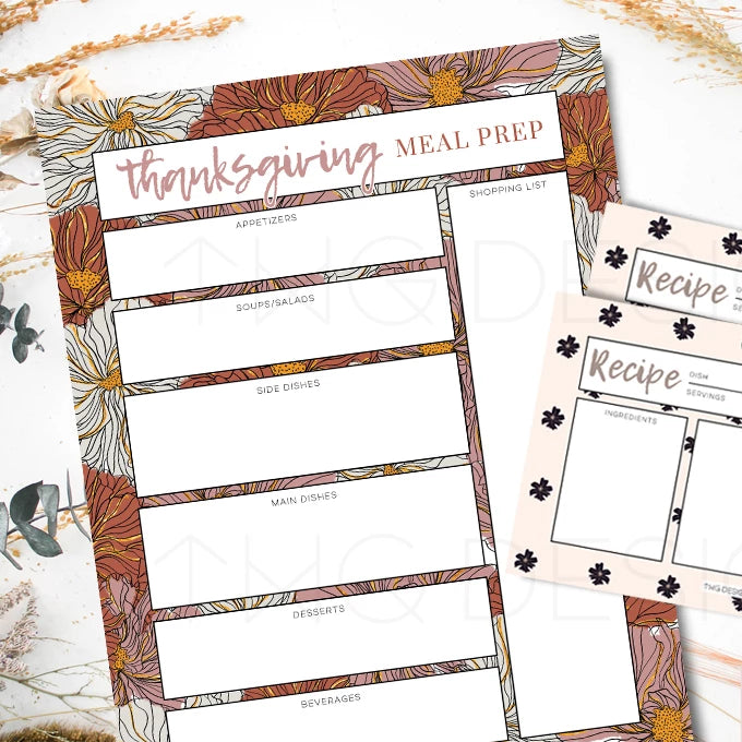 Printables, Thanksgiving Meal Prep Printables - TWG Designs