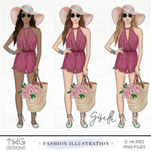 Load image into Gallery viewer, Fashion Illustrations, Giselle - Fashion Illustration - TWG Designs