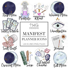Load image into Gallery viewer, Planner Icons, Manifest - To Do Planner Icons - TWG Designs