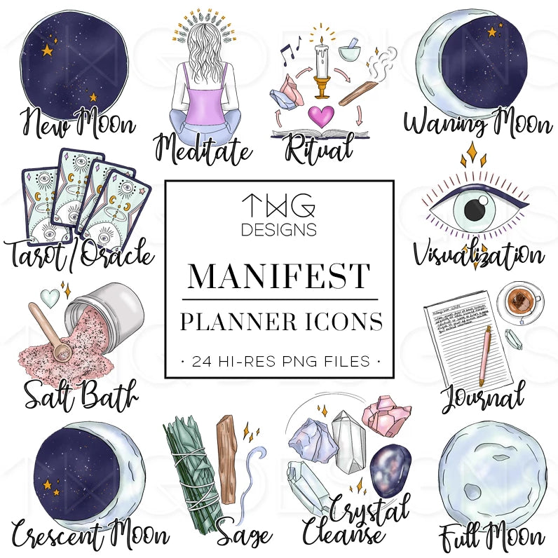 Planner Icons, Manifest - To Do Planner Icons - TWG Designs