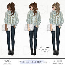 Load image into Gallery viewer, Fashion Illustrations, Lisette - Fashion Illustration - TWG Designs