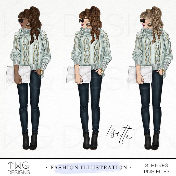 Fashion Illustrations, Lisette - Fashion Illustration - TWG Designs