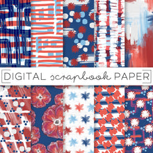 Load image into Gallery viewer, Digital Paper, Stars + Stripes Digital Paper Set - TWG Designs