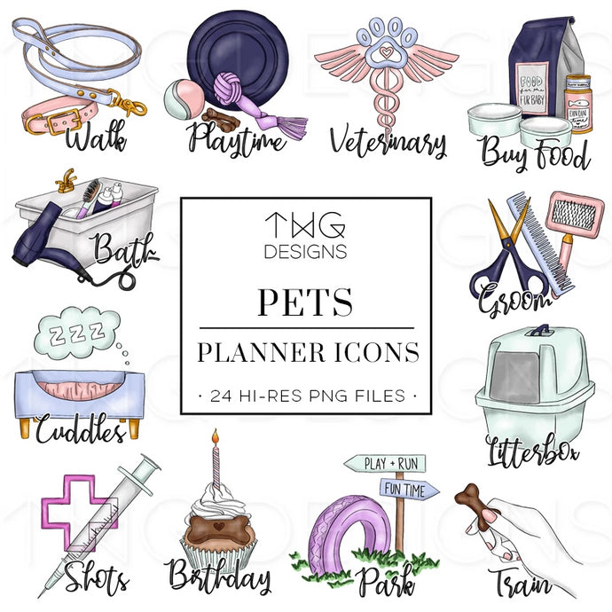 Planner Icons, Pets - To Do Planner Icons - TWG Designs