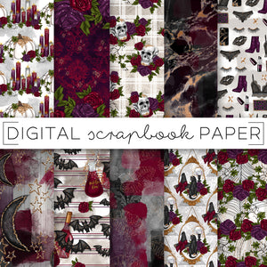 Digital Paper, Wicked Affair Digital Paper Set - TWG Designs