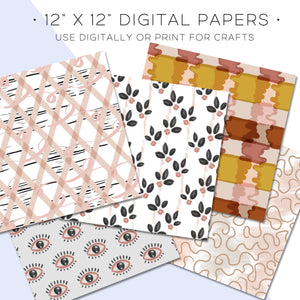 Digital Paper, Moodboard Digital Paper Set - TWG Designs