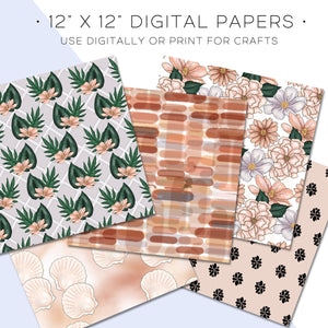 Digital Paper, Summer Style Digital Paper Set - TWG Designs