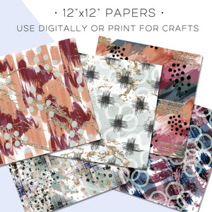 Digital Paper, Boss Babe Digital Paper Set - TWG Designs