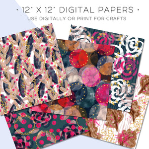 Digital Paper, Fall Fashion Digital Paper Set - TWG Designs