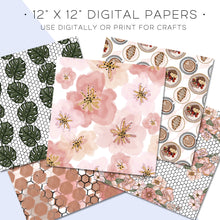 Load image into Gallery viewer, Digital Paper, Cafe Au Lait Digital Paper Set - TWG Designs