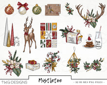 Load image into Gallery viewer, Collections, Mistletoe Clip Art Collection - TWG Designs