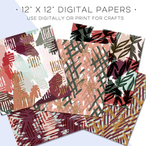 Digital Paper, Cozy Night Digital Paper Set - TWG Designs