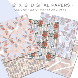 Digital Paper, Flutter & Fly Digital Paper Set - TWG Designs