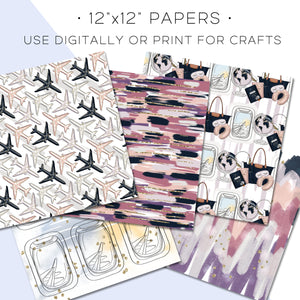 Digital Paper, Wanderlust Digital Paper Set - TWG Designs