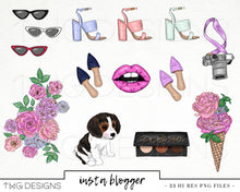 Load image into Gallery viewer, Collections, Insta Blogger Clip Art Collection - TWG Designs