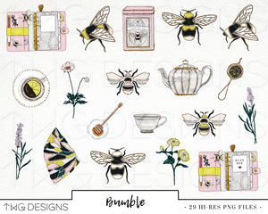 Collections, Bumble Clip Art Collection - TWG Designs