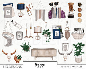 Collections, Hygge Clip Art Collection - TWG Designs