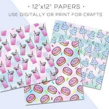 Load image into Gallery viewer, Digital Paper, Pastel Sweets Digital Paper Set - TWG Designs
