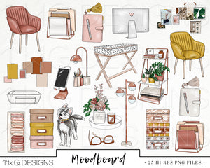 Collections, Moodboard Clip Art Collection - TWG Designs