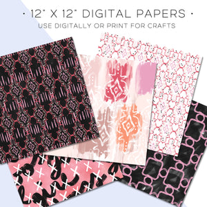 Digital Paper, Desktop Flatlay Digital Paper Set - TWG Designs
