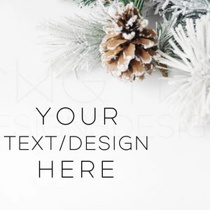 Styled Stock Photos, Snowy Pinecones Styled Stock Photo - TWG Designs