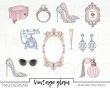 Load image into Gallery viewer, Collections, Vintage Glam Clip Art Collection - TWG Designs