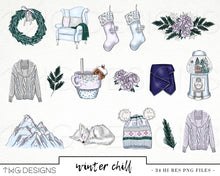 Load image into Gallery viewer, Collections, Winter Chill Clip Art Collection - TWG Designs