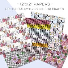 Load image into Gallery viewer, Digital Paper, Dinner Date Digital Paper Set - TWG Designs