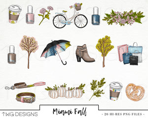 Collections, Miami Fall Clip Art Collection - TWG Designs