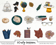 Load image into Gallery viewer, Collections, Study Session Clip Art Collection - TWG Designs