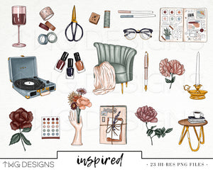 Collections, Inspired Clip Art Collection - TWG Designs