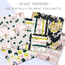 Load image into Gallery viewer, Digital Paper, Bumble Digital Paper Set - TWG Designs
