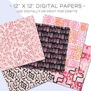Digital Paper, Desktop Flatlay Digital Paper Set V2 - TWG Designs