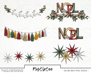 Collections, Mistletoe Clip Art Collection - TWG Designs
