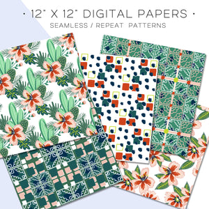 Digital Paper, Palm Springs Digital Paper Set - TWG Designs