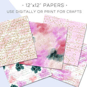 Digital Paper, Stay In Love Digital Paper Set - TWG Designs