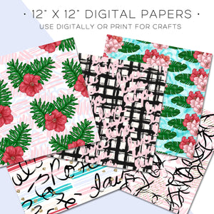 Digital Paper, Poolside Rosé Digital Paper Set - TWG Designs