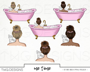 Collections, Me Time Clip Art Collection - TWG Designs