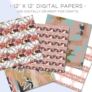 Digital Paper, City Sweets Digital Paper Set - TWG Designs