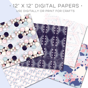 Digital Paper, Special Day Digital Paper Set - TWG Designs