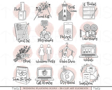 Load image into Gallery viewer, Planner Icons, Wedding Planning Icons - Blush Bundle - TWG Designs