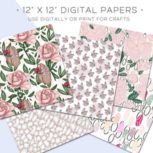 Load image into Gallery viewer, Digital Paper, Full Bloom Digital Paper Set - TWG Designs