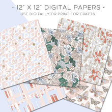Load image into Gallery viewer, Digital Paper, Flutter & Fly Digital Paper Set - TWG Designs
