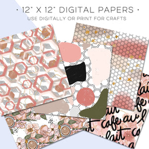 Digital Paper, Cafe Au Lait Digital Paper Set - TWG Designs