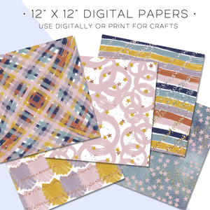Digital Paper, Stars Align Digital Paper Set - TWG Designs