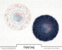 Load image into Gallery viewer, Collections, Celestial Clip Art Collection - TWG Designs