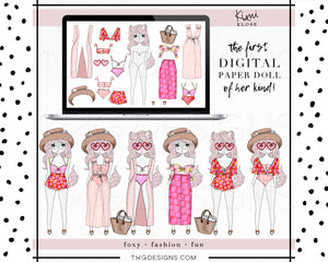 Kimi Klose, Kimi Klose - Digital Paper Doll Bundle (Sweet Summer) - TWG Designs